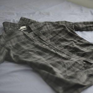 Calvin Klein Black Plaid Slim Long Sleeve